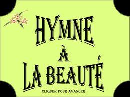Diaporama Hymne à la beauté 2012