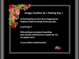 Images insolites du parking day