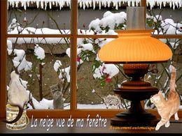 La neige vue de ma fenêtre