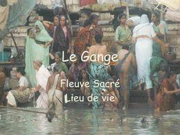Le Gange fleuve sacré lieu de vie
