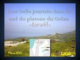 Le sud du plateau Golan Israël