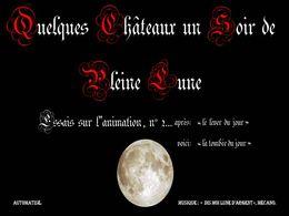 Les châteaux sous la lune