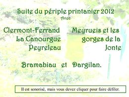 Clermont-Ferrand - Gorges de la Jonte