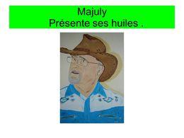 Majuly présente ses huiles