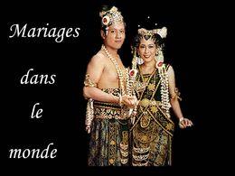 Mariages dans le monde