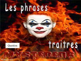 Phrases traitres