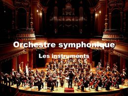 Diaporama Orchestre symphonique - Les instruments
