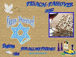 Pesach Passover 2012