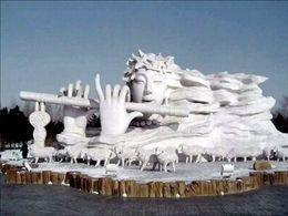 Sculptures de neige 1