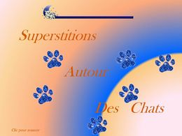 Diaporama Superstitions autour des chats