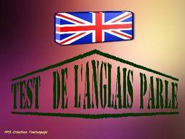 Test de l'anglais parlé