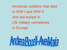 US military cemeteries in Europe