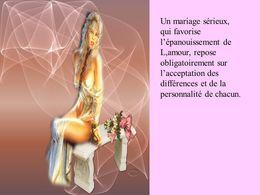 Un mariage sérieux
