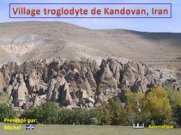 PPS Village troglodyte de Kandovan en Iran