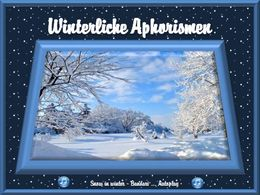 Winterliche Aphorismen